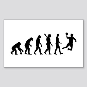 Evolution Handball Sticker (Rectangle)