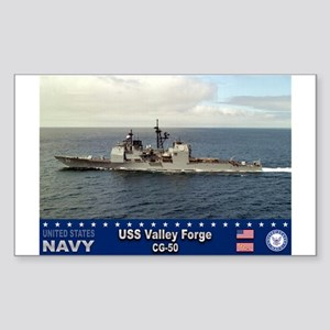 USS Valley Forge CG-50 Rectangle Sticker