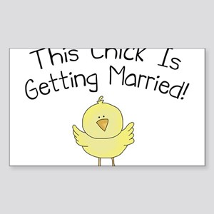 This Chick is Getting Married Sticker (Rectangle)