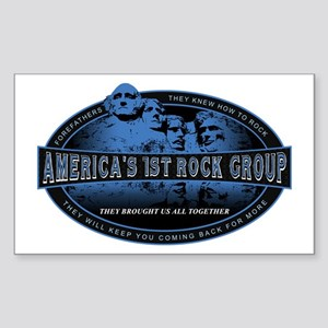Americas First Rock Group Rectangle Sticker