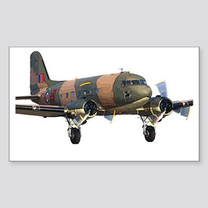 C-47 Skytrain Sticker (Rectangle)