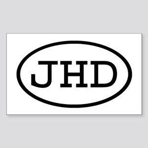 JHD Oval Rectangle Sticker