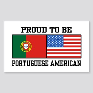 Portuguese American Rectangle Sticker