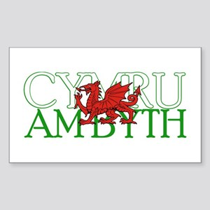 Cymru Am Byth Sticker (rectangle)