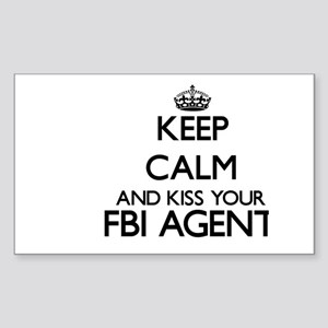 Keep calm and kiss your Fbi Agent Sticker