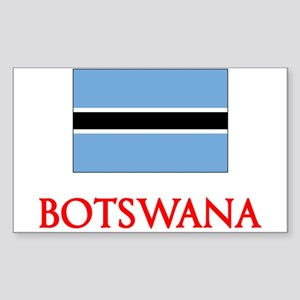 Botswana Flag Design Sticker