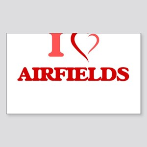 I Love Airfields Sticker