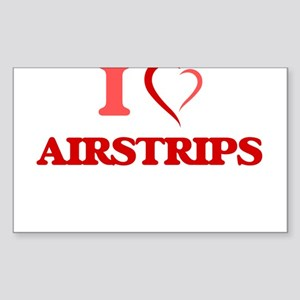 I Love Airstrips Sticker