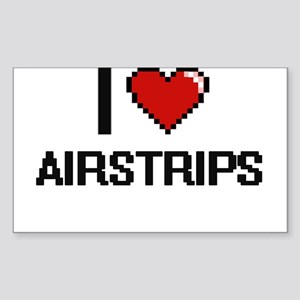 I Love Airstrips Digitial Design Sticker