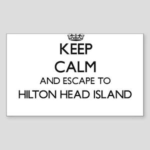 5346aa92ea485 Keep calm and escape to Hilton Head Island Sticker