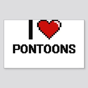 I Love Pontoons Digital Design Sticker