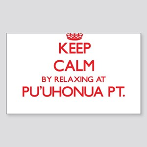 Keep calm by relaxing at Pu'Uhonua Pt. Haw Sticker