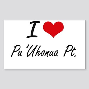I love Pu'Uhonua Pt. Hawaii artistic desi Sticker