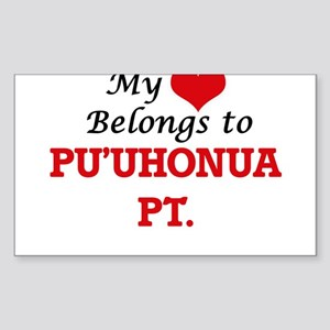 My Heart Belongs to Pu'Uhonua Pt. Hawaii Sticker