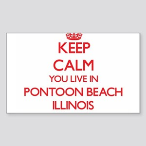 Keep calm you live in Pontoon Beach Illino Sticker