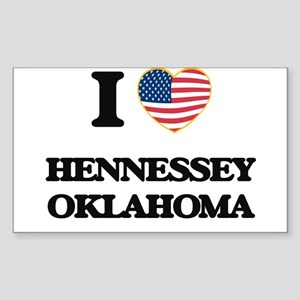 I love Hennessey Oklahoma Sticker