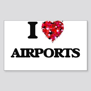 I Love Airports Sticker