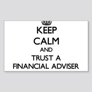 Keep Calm and Trust a Financial Adviser Sticker