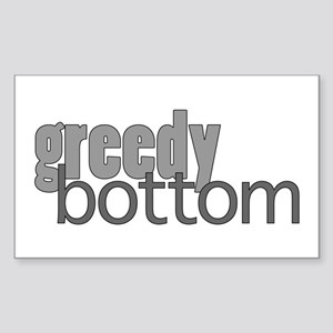 Greedy Bottom Sticker