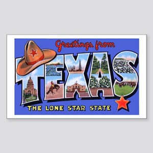 Texas Greetings Rectangle Sticker