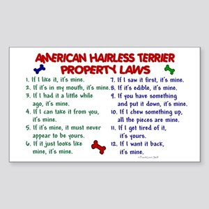 American Hairless Terrier Property Laws 2 Sticker