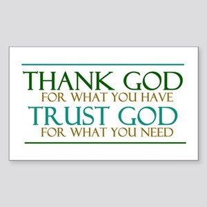 Thank God - Trust God Sticker (Rectangle)