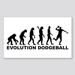 Evolution Dodgeball Sticker (Rectangle)