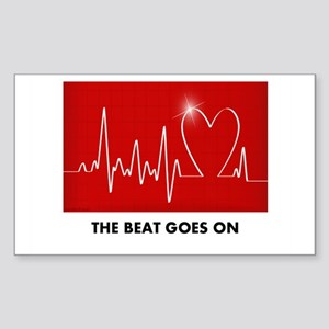 The Beat Goes On - Post Heart Attack Sticker