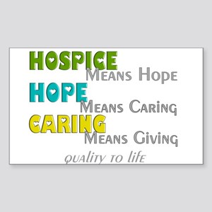 Hospice 2013 hope green blue Sticker (Rectangl