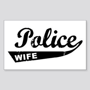 Vintage Police Wife Rectangle Sticker