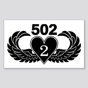 2-502 Black Heart Sticker
