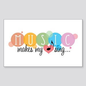 Music Makes My Heart Sing Sticker
