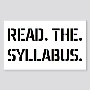 read syllabus Sticker (Rectangle)