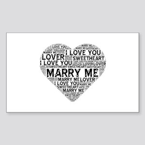 Marry Me Heart Sticker