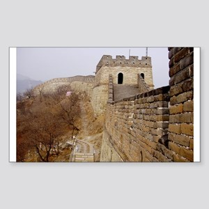 Great Wall Panorama Rectangle Sticker