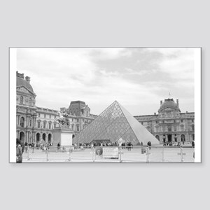 louvre Rectangle Sticker