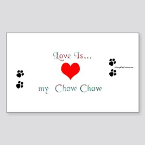 Chow Love Rectangle Sticker
