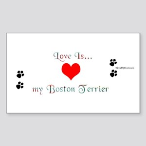 Boston Love Rectangle Sticker