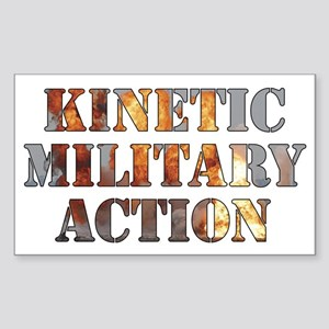 Kinetic Military Action-01 Sticker (Rectangle)
