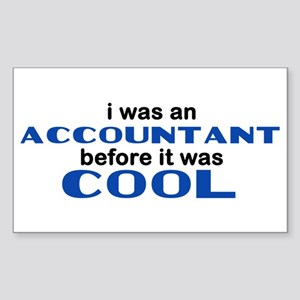 Accountant Before Cool Rectangle Sticker