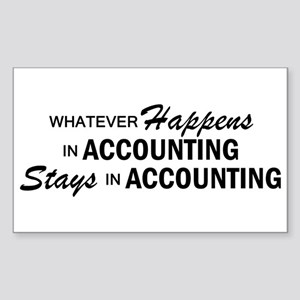 Whatever Happens - Accounting Sticker (Rectangle)