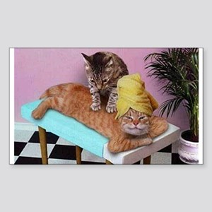Funny Cat Massage Sticker
