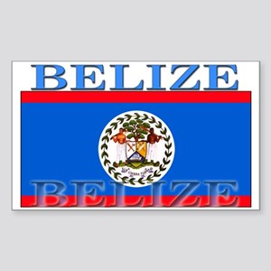 Belize Belizean Flag Rectangle Sticker