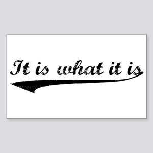 IT IS WHAT IT IS #2 Rectangle Sticker