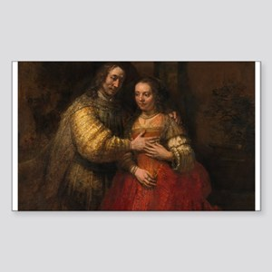 The Jewish bride - Rembrandt - c1665 Sticker (Rect