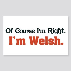 I'm Welsh Rectangle Sticker