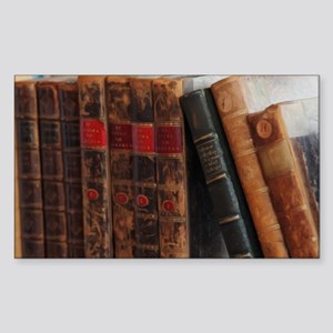 Old Books Sticker (Rectangle)