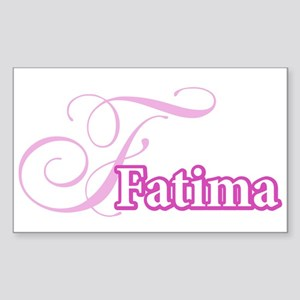 Fatima Rectangle Sticker
