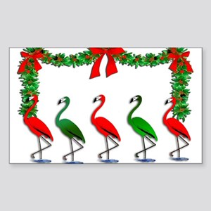 Christmas Flamingos Rockettes Sticker