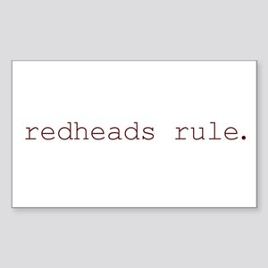 redheads rule Rectangle Sticker